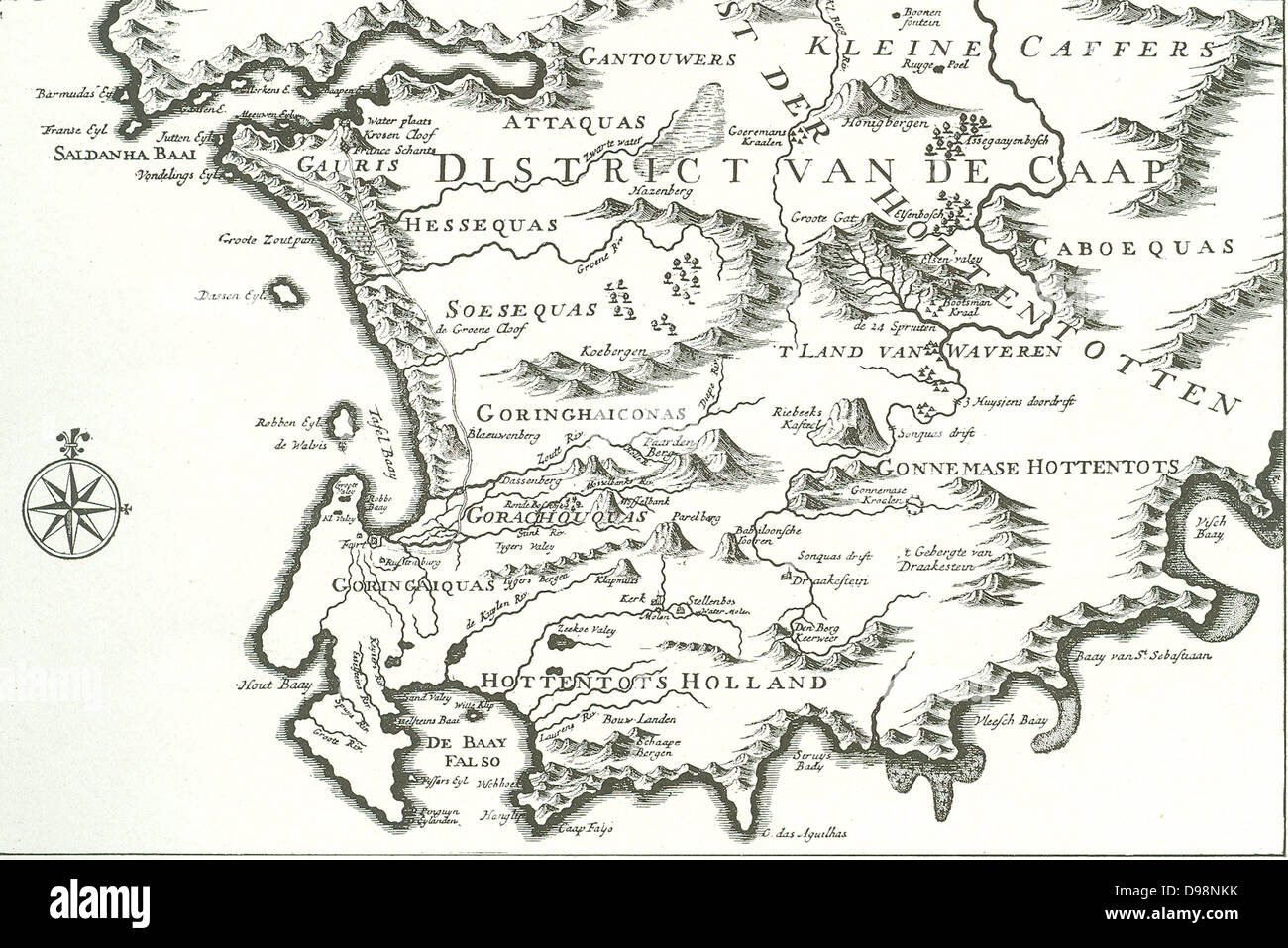 District of the Cape The Good Hope  map of a portion of the