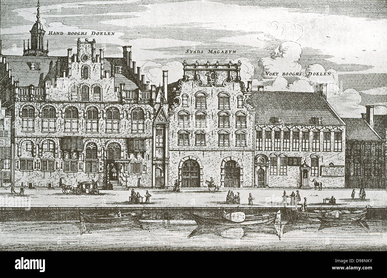 Amsterdam. Old Guild Houses Circa 1650