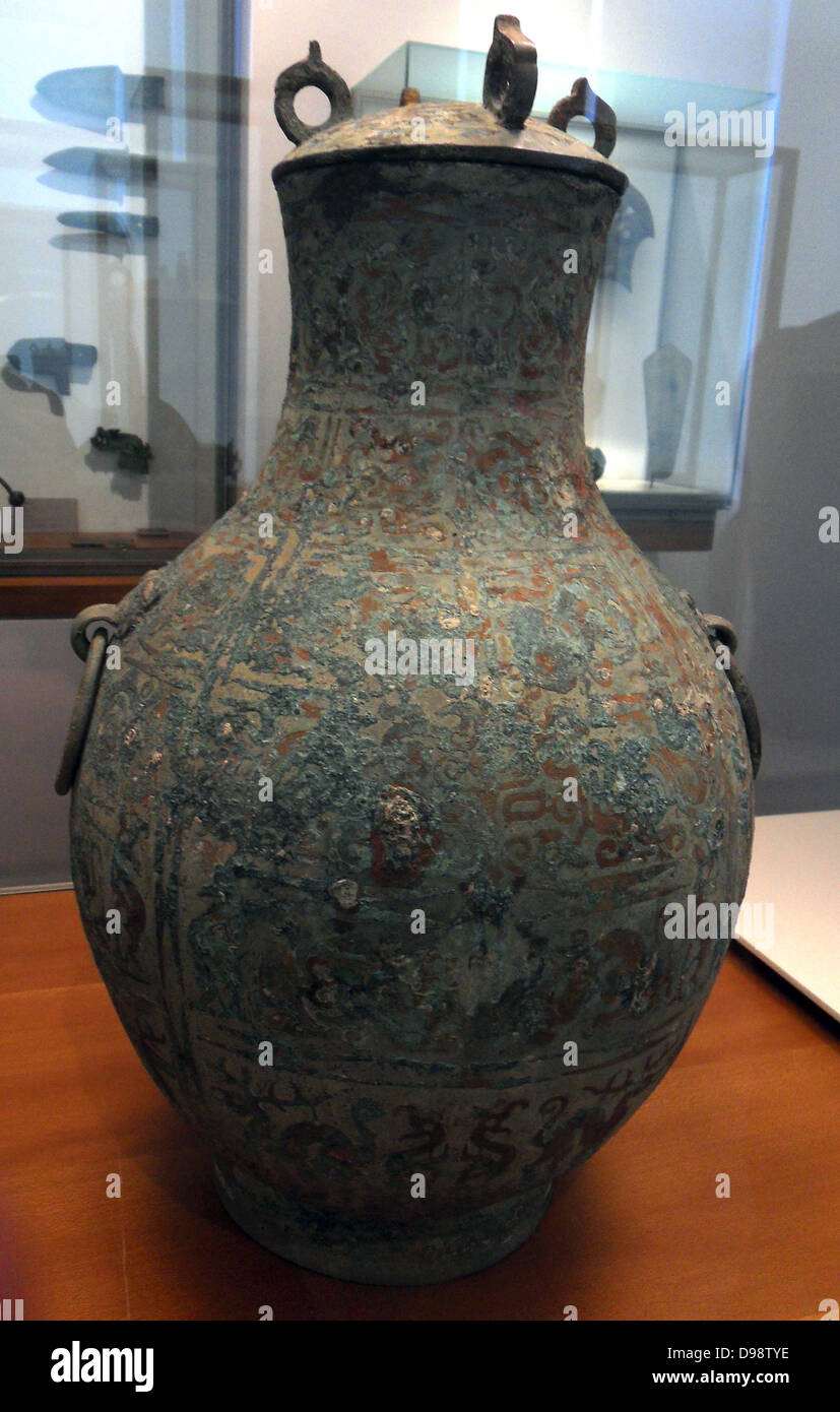 Chinese wine vase with lid eastern zhou dynasty 770 256 bc stock chinese wine vase with lid eastern zhou dynasty 770 256 bc bronze copper encrusted patinated reviewsmspy
