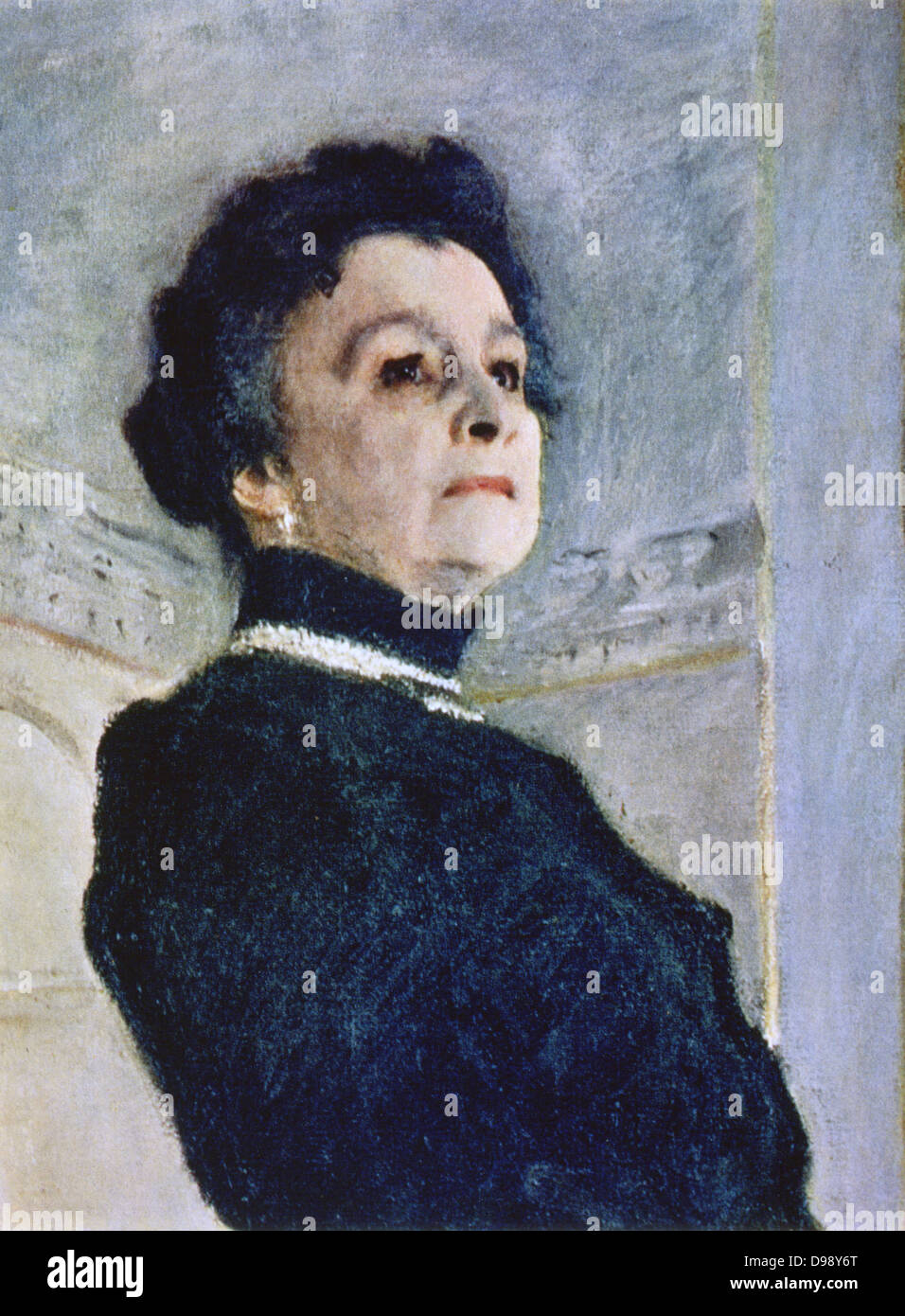 Actress Maria Yermolovau0027 (1853 1928), 1905, Detail. Portrait By Valentin  Serov (1865 1911) Russian Painter. Female