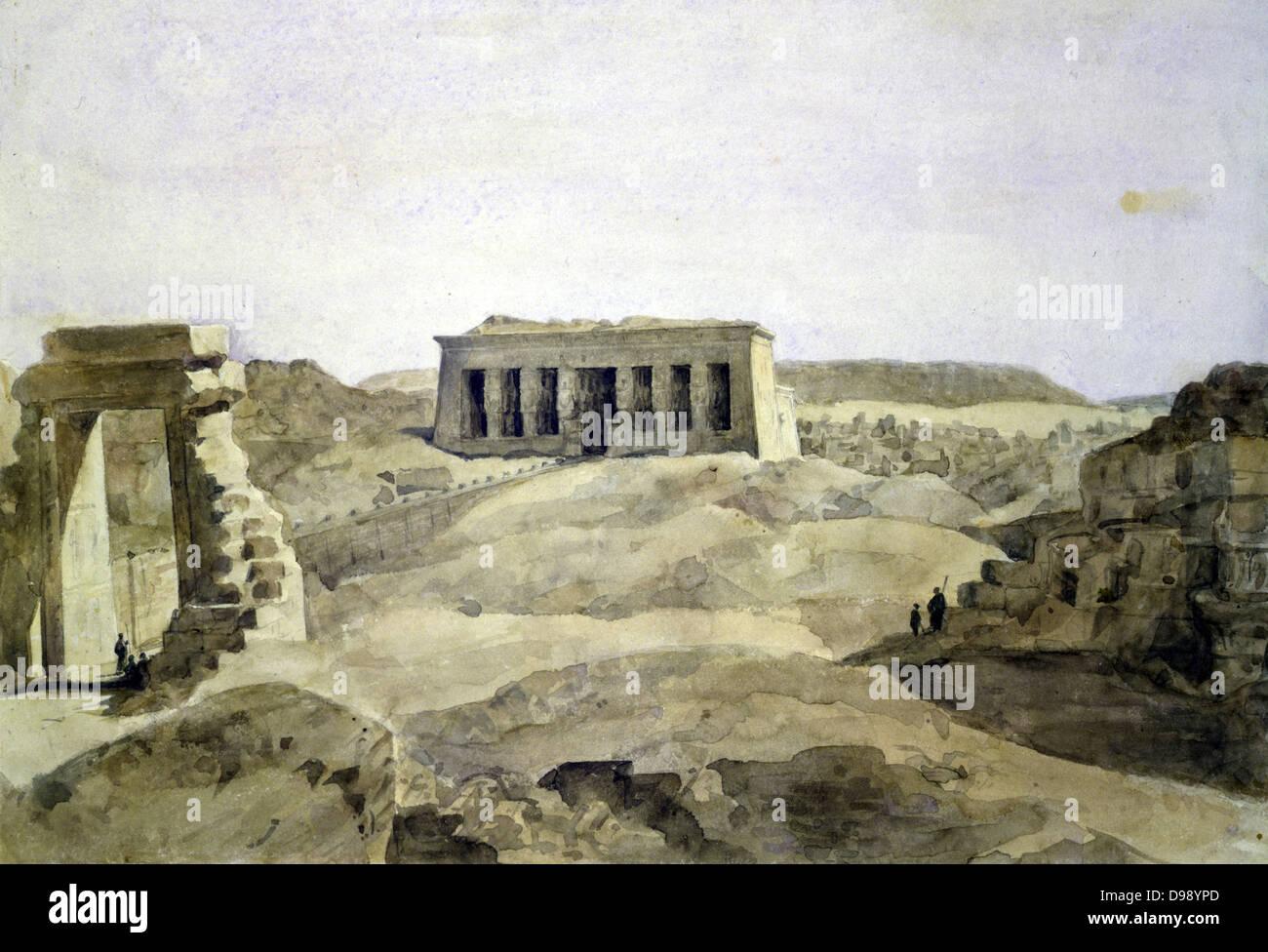 French Architect dendera'. hector horeau (1801-1782) french architect. temple of