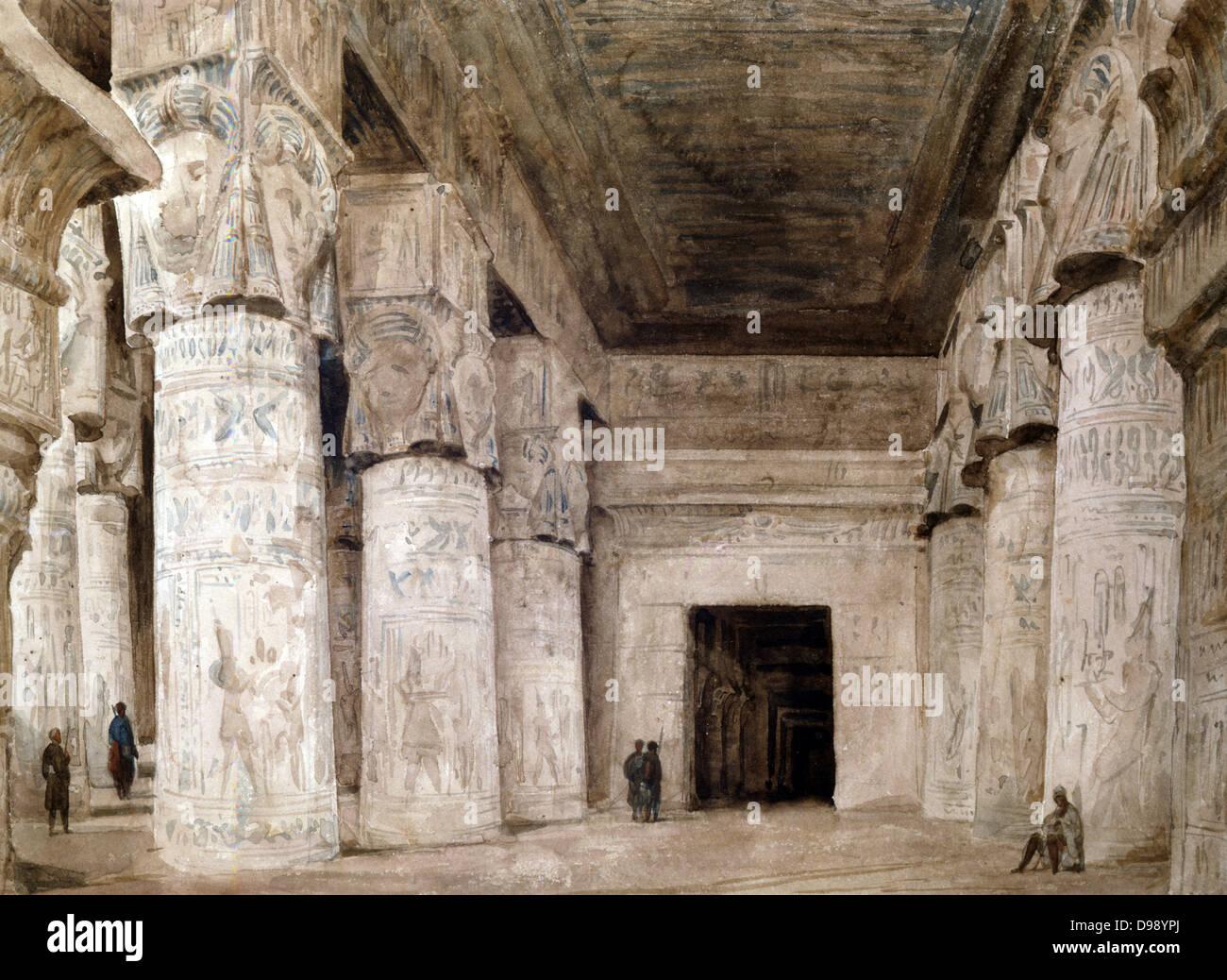 French Architect dendera interior'. hector horeau (1801-1782) french architect