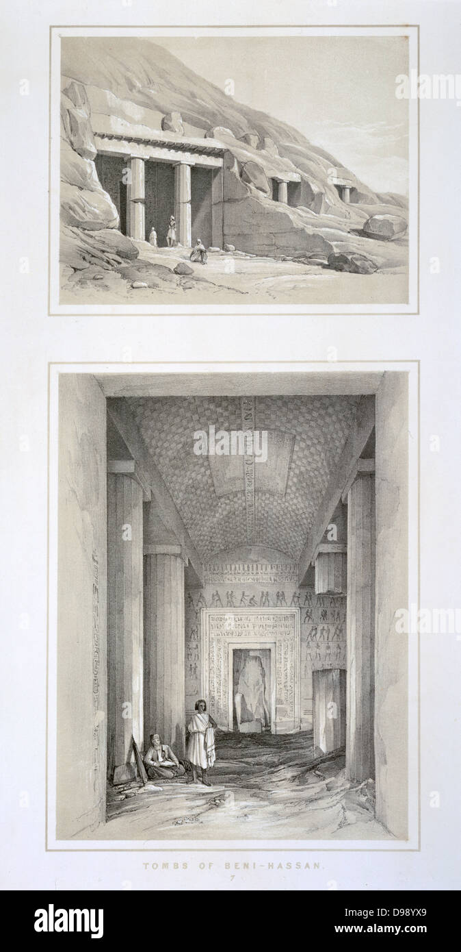 Ancient Egyptian Interior Architecture ancient egyptian tomb interior stock photos & ancient egyptian