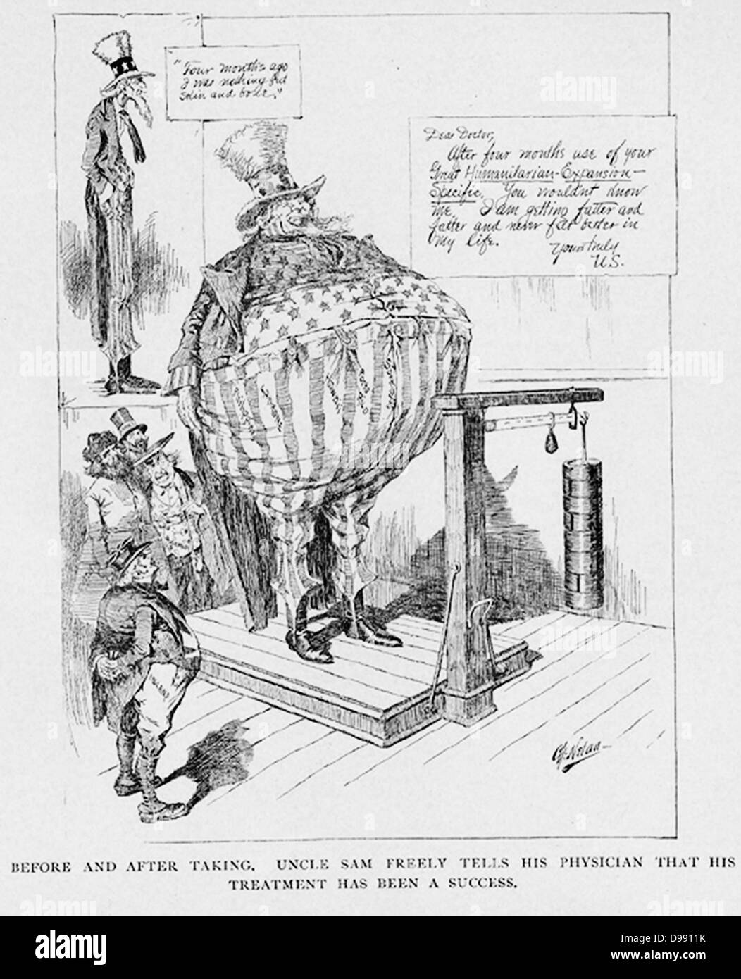 Before and after ' from Cartoons of Our War with Spain by Charles ...