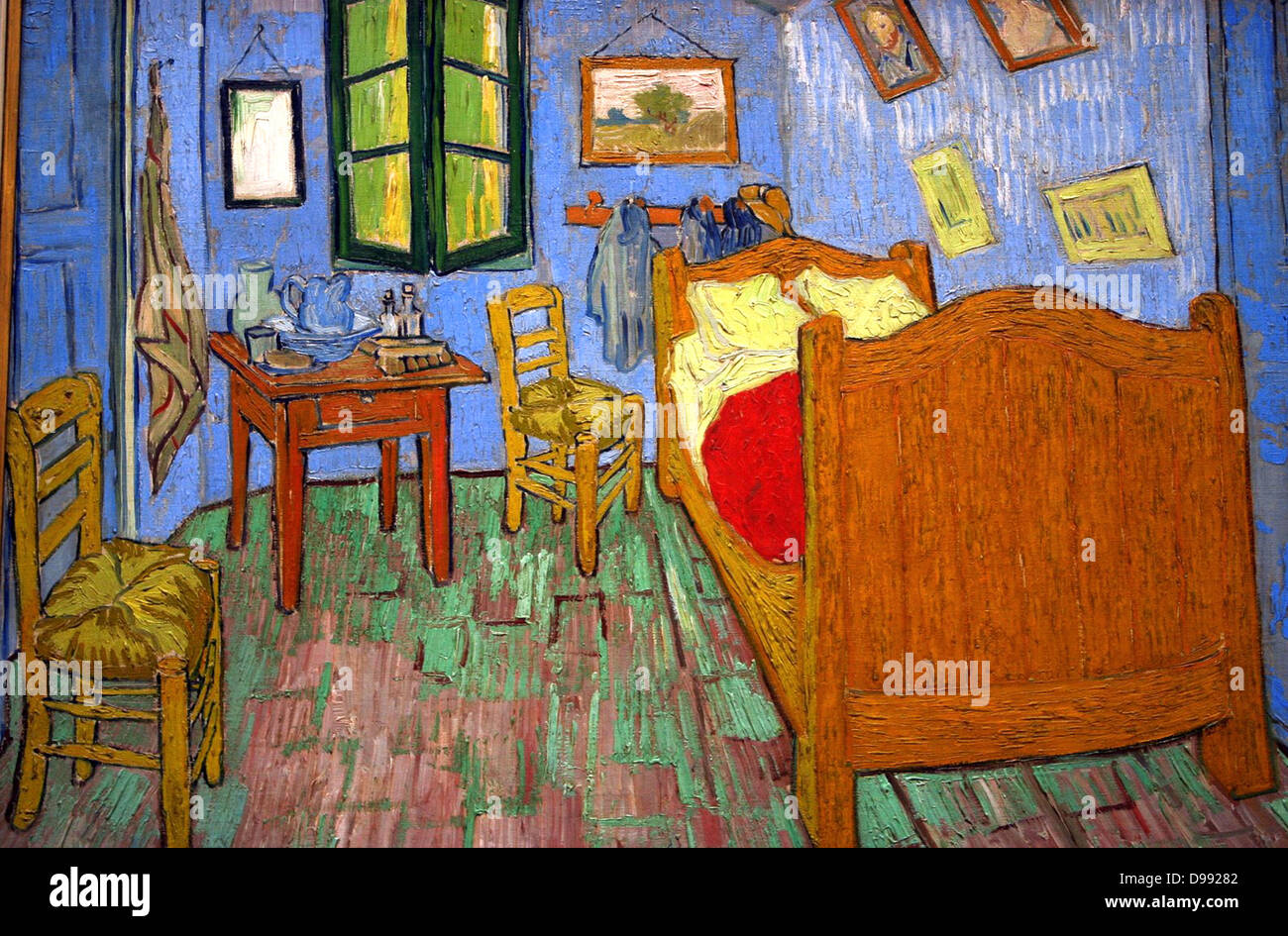 la chambre arles 39 bedroom at arles 1888 oil on canvas vincent stock photo royalty free. Black Bedroom Furniture Sets. Home Design Ideas