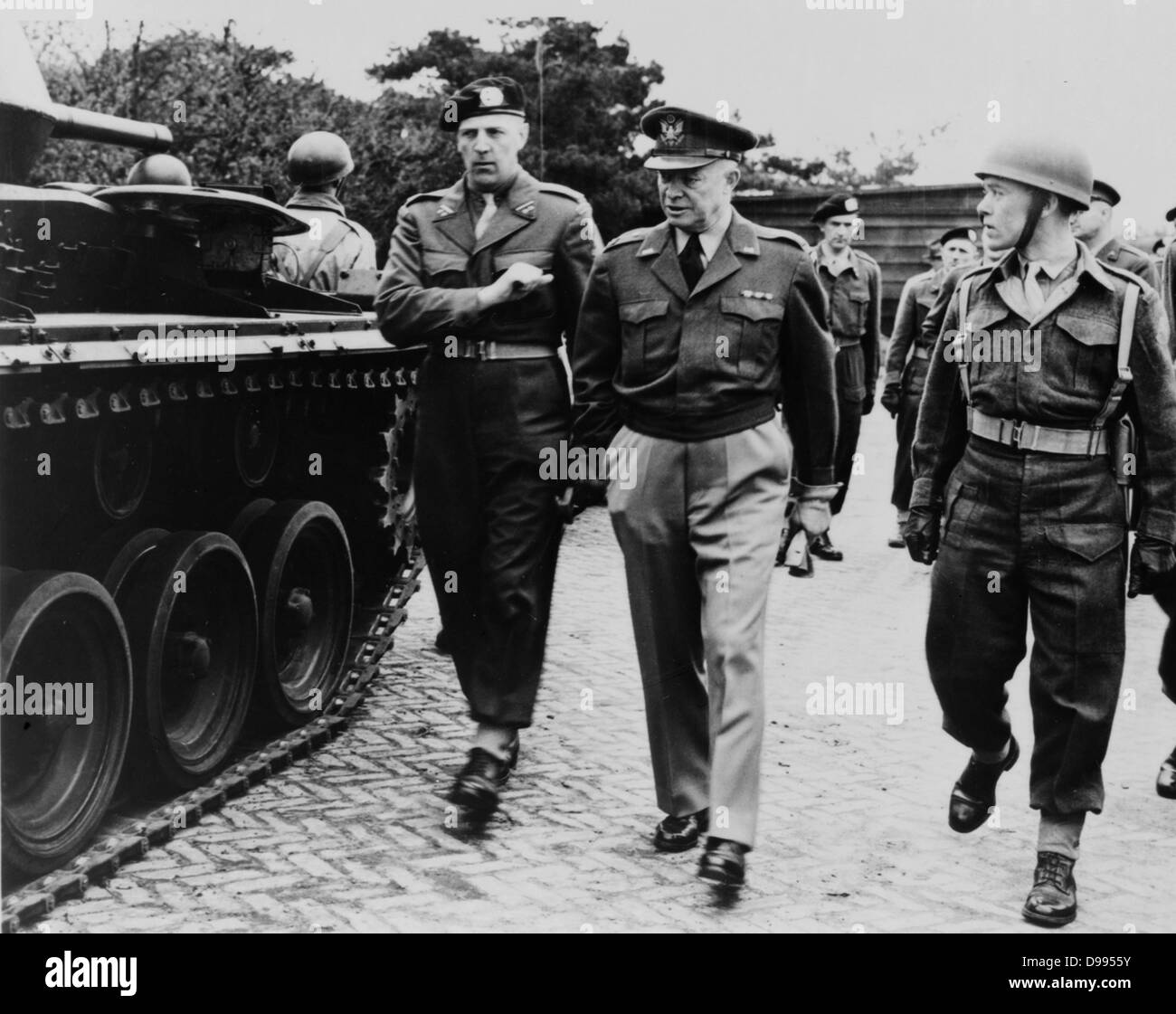 World War II - 1945: US General Dwight Eisenhower (1890 ...