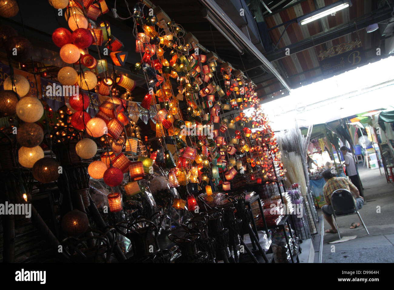Fancy Light Decorated In A Home Decor Shop At Chatuchak