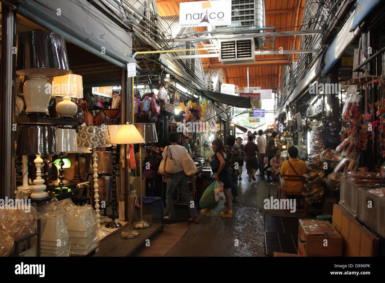 Walkway near a home decor shop at chatuchak weekend market for House decor shopping