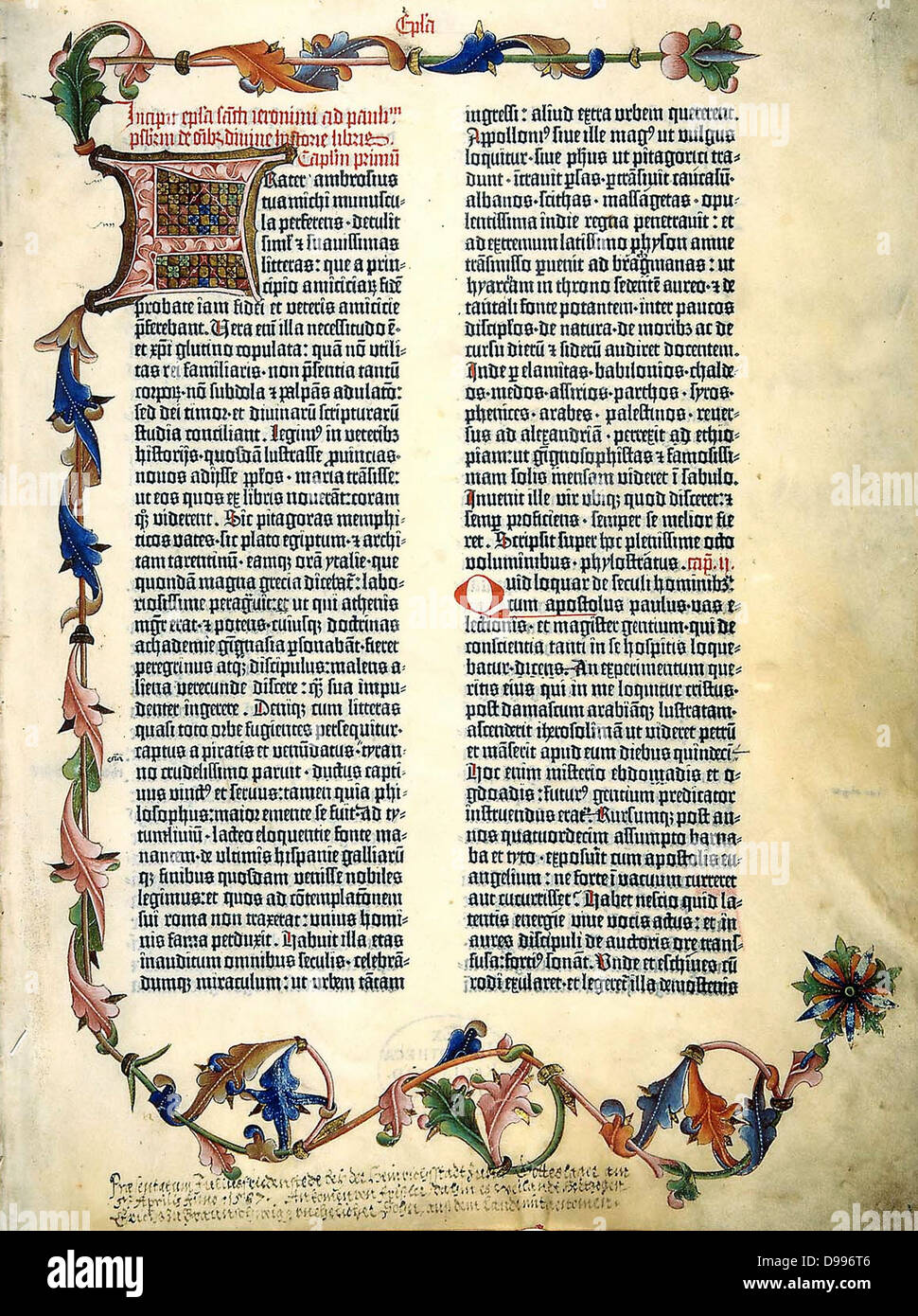 the gutenberg bible first major book printed with a
