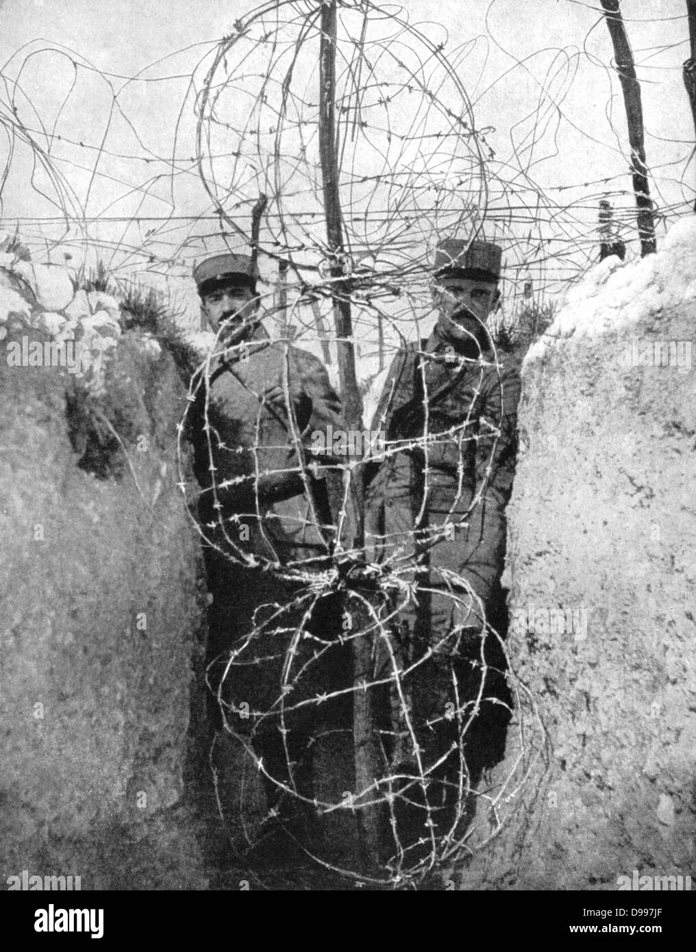 World war i barbed wire entaglements protecting