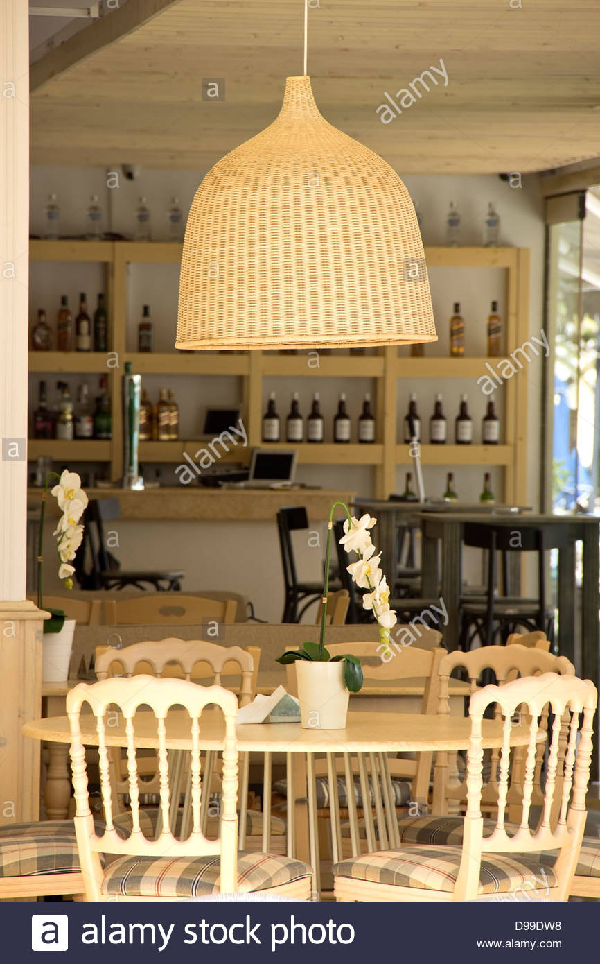 cafe interior with beige furniture stock photo, royalty free image