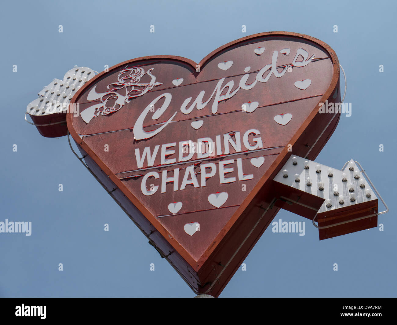 Sign Above Cupids Wedding Chapel Downtown Las Vegas