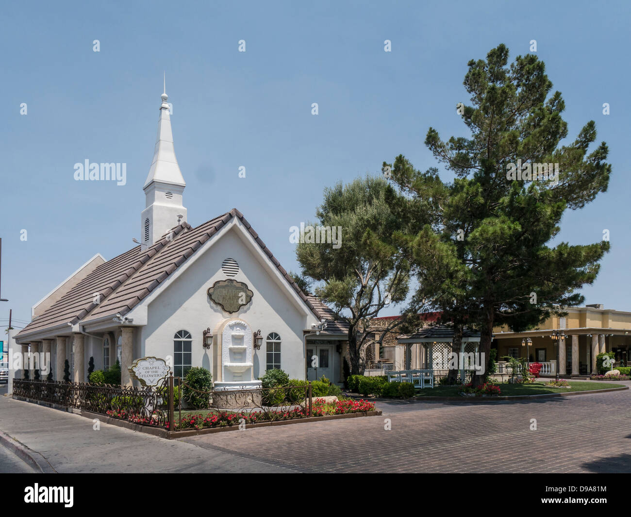 Chapel of the Flowers Wedding Chapel in Las Vegas Nevada Stock Roya