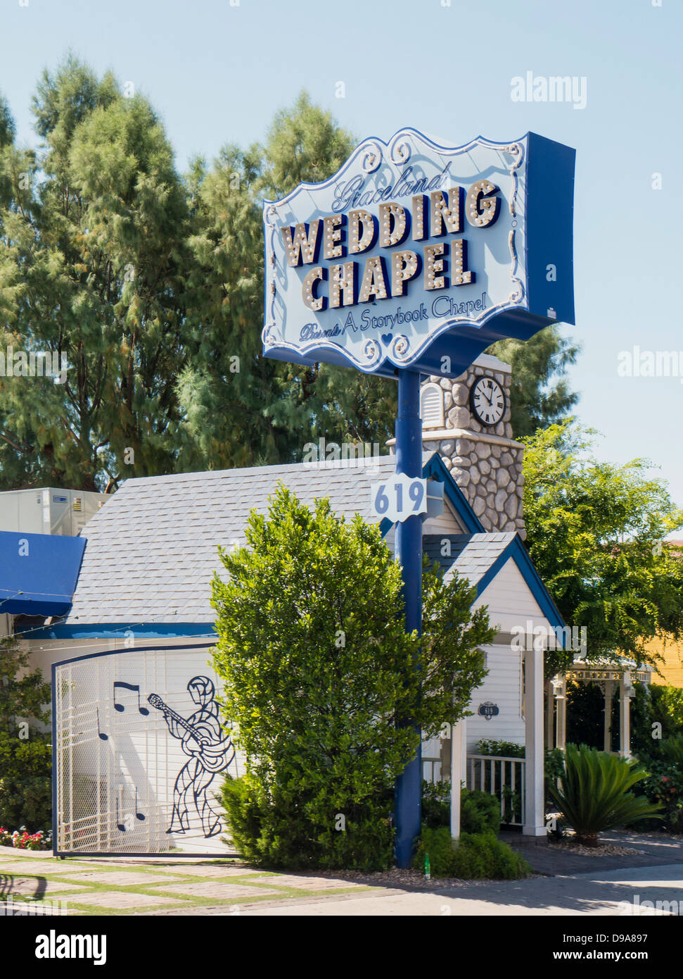 Graceland Wedding Chapel In Downtown Las Vegas Nevada USA