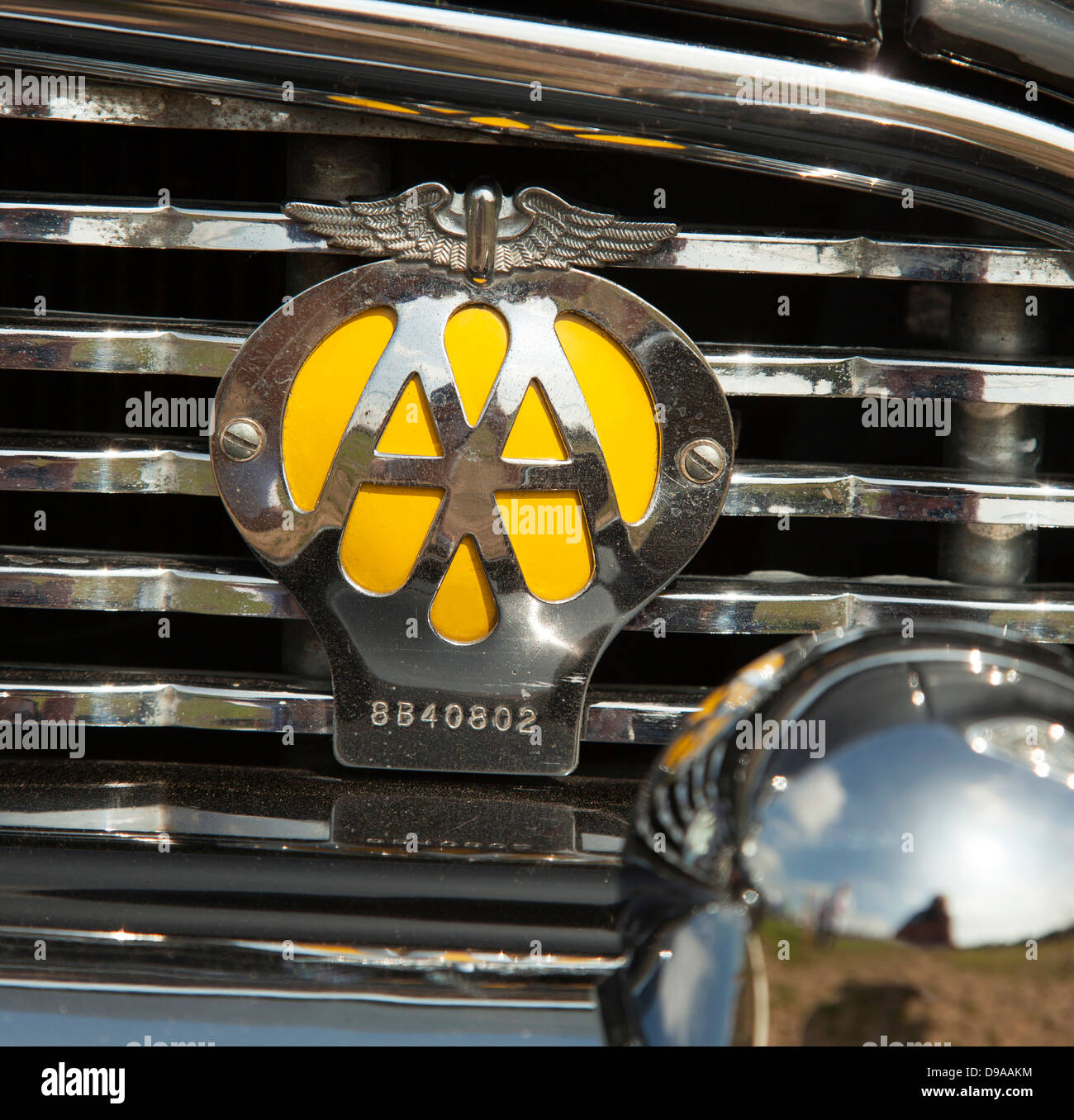 the automobile association aa badge on a classic car in the u k stock photo 57390920 alamy. Black Bedroom Furniture Sets. Home Design Ideas