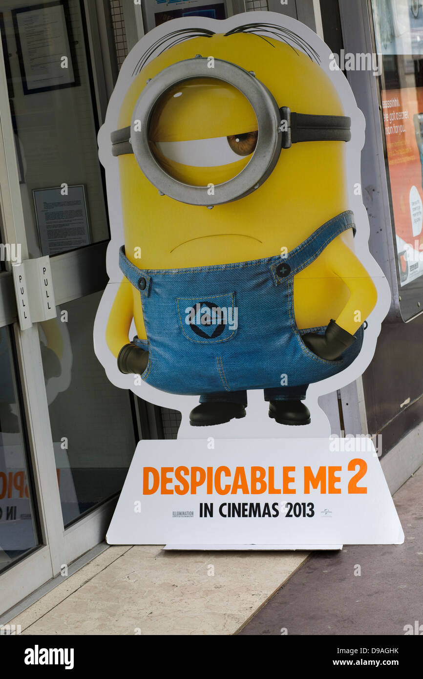 Computer Eye Glass: Cardboard Cut Out Advertising Despicable Me 2 Gru's