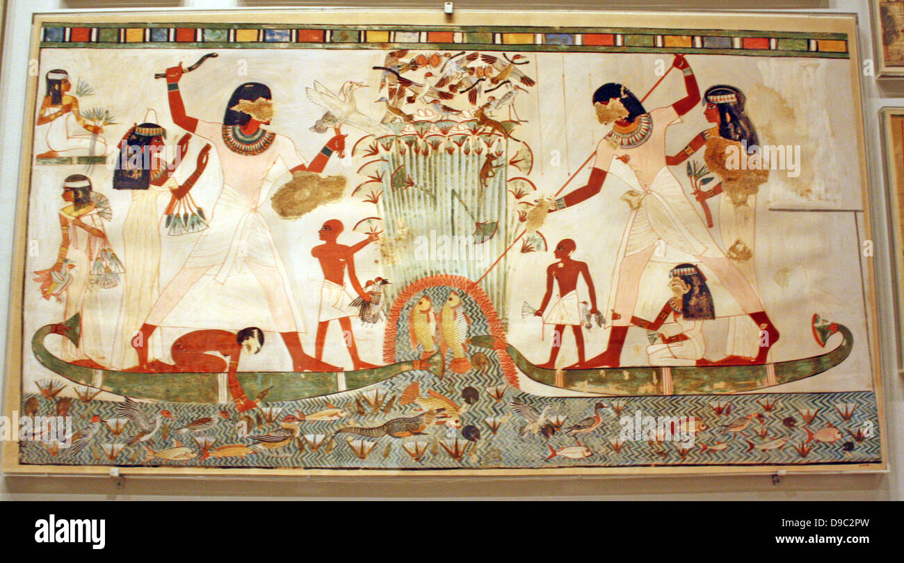 Ancient egyptian wall murals for Egyptian mural art