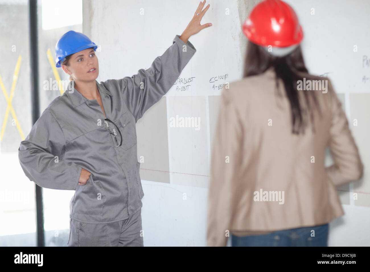 Interior Designer And Project Manager Looking At Paint Swatch