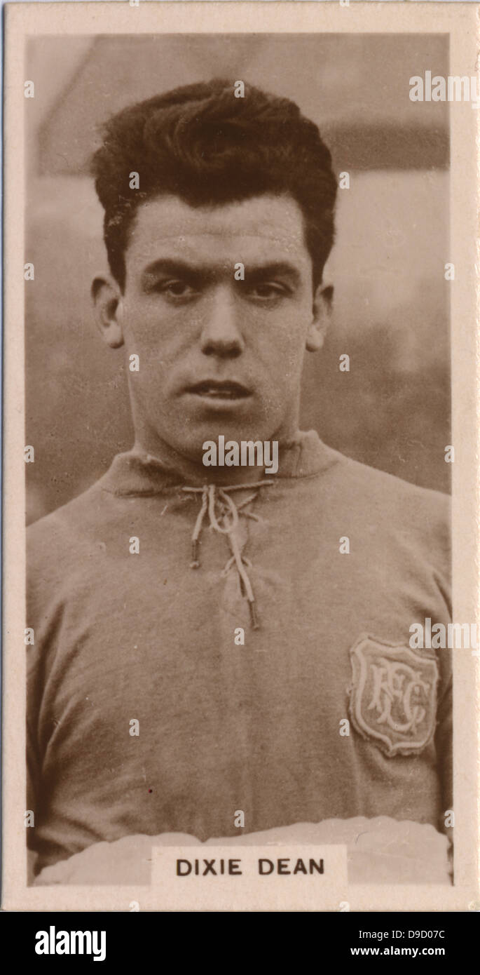 William Rlaph Dixie Dean 1907 1980 English footballer who spent
