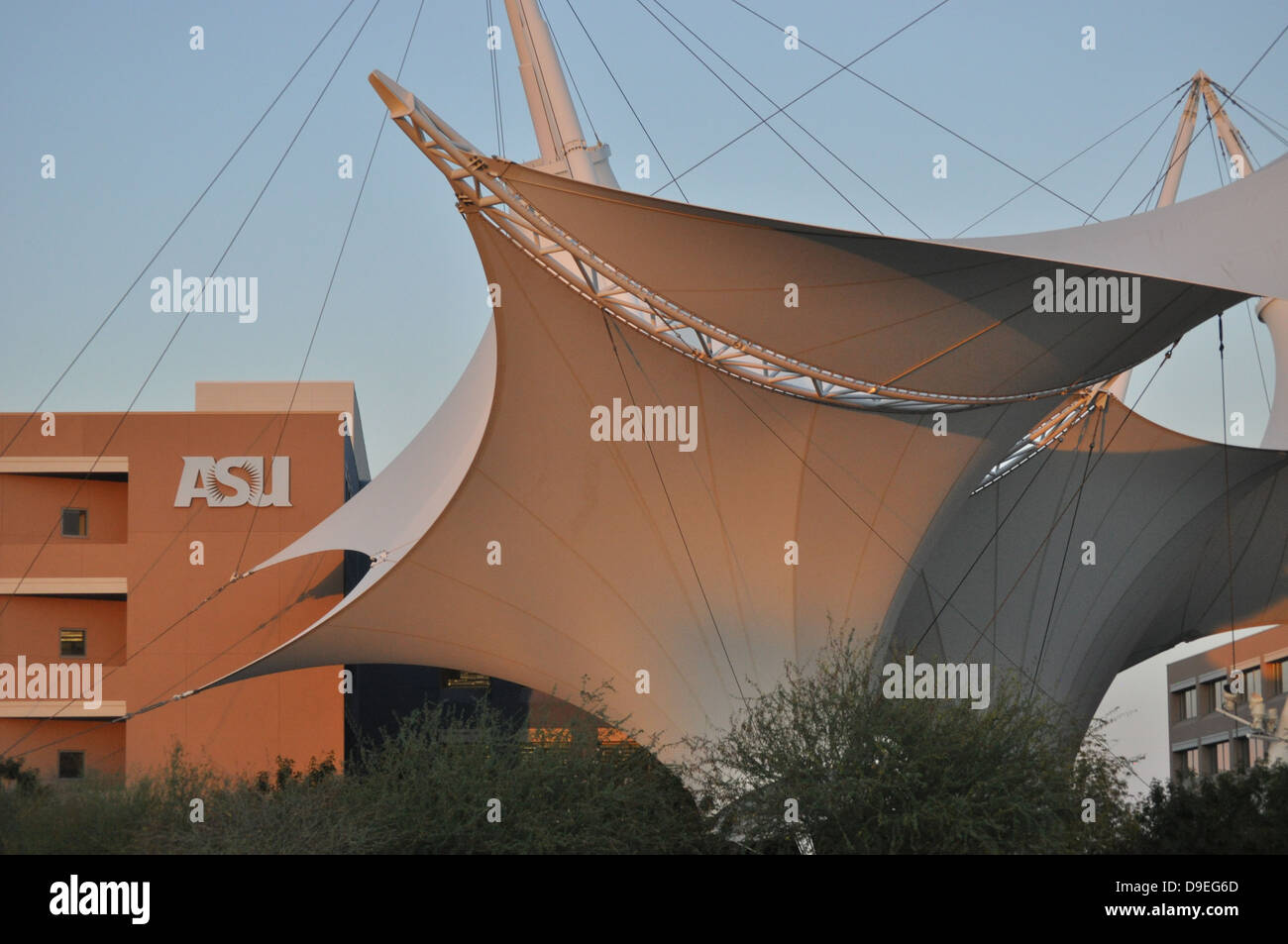 fabric awning canopy with cable fastening system for Arizona State University USA & fabric awning canopy with cable fastening system for Arizona State ...