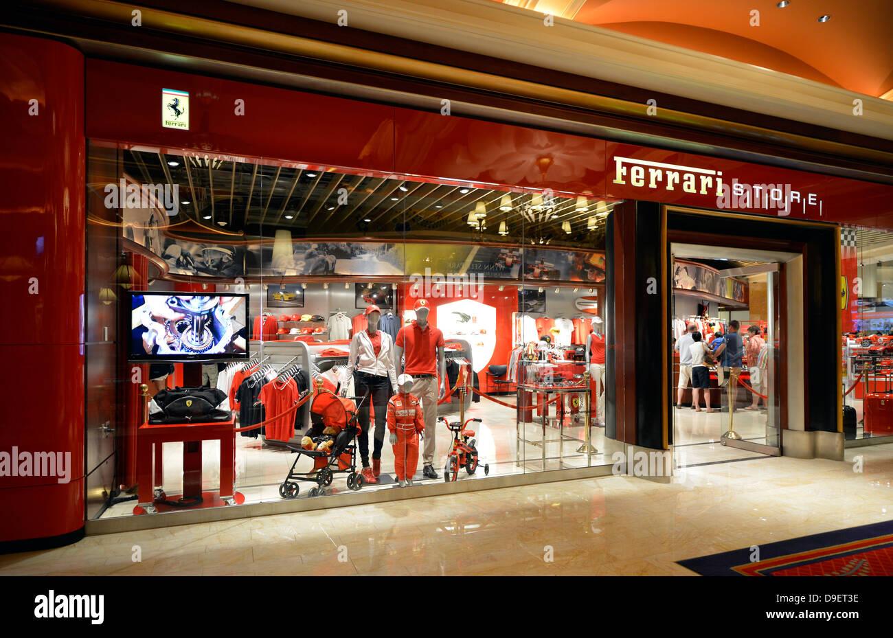 ferrari shop, five-star hotel casino wynn, las vegas, nevada, the