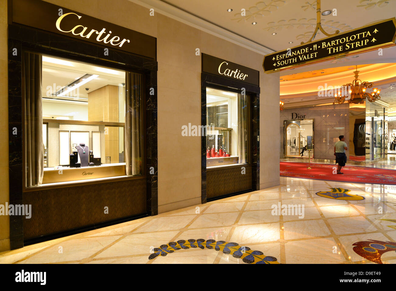 Boutique cartier dior five star hotel casino wynn las for Five star boutique