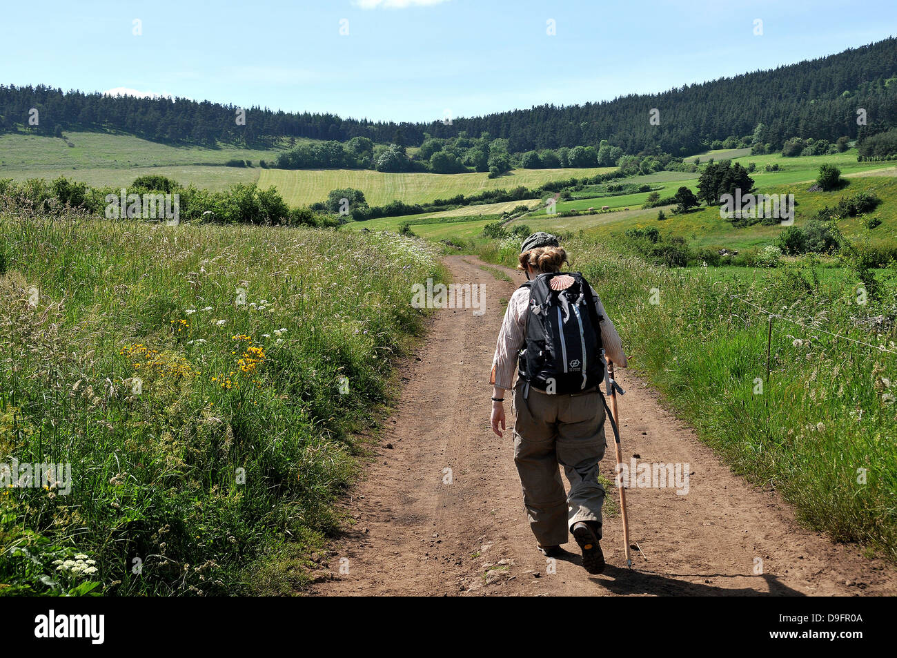 Pilgrim on the Way of St. James, Christian pilgrimage route ...