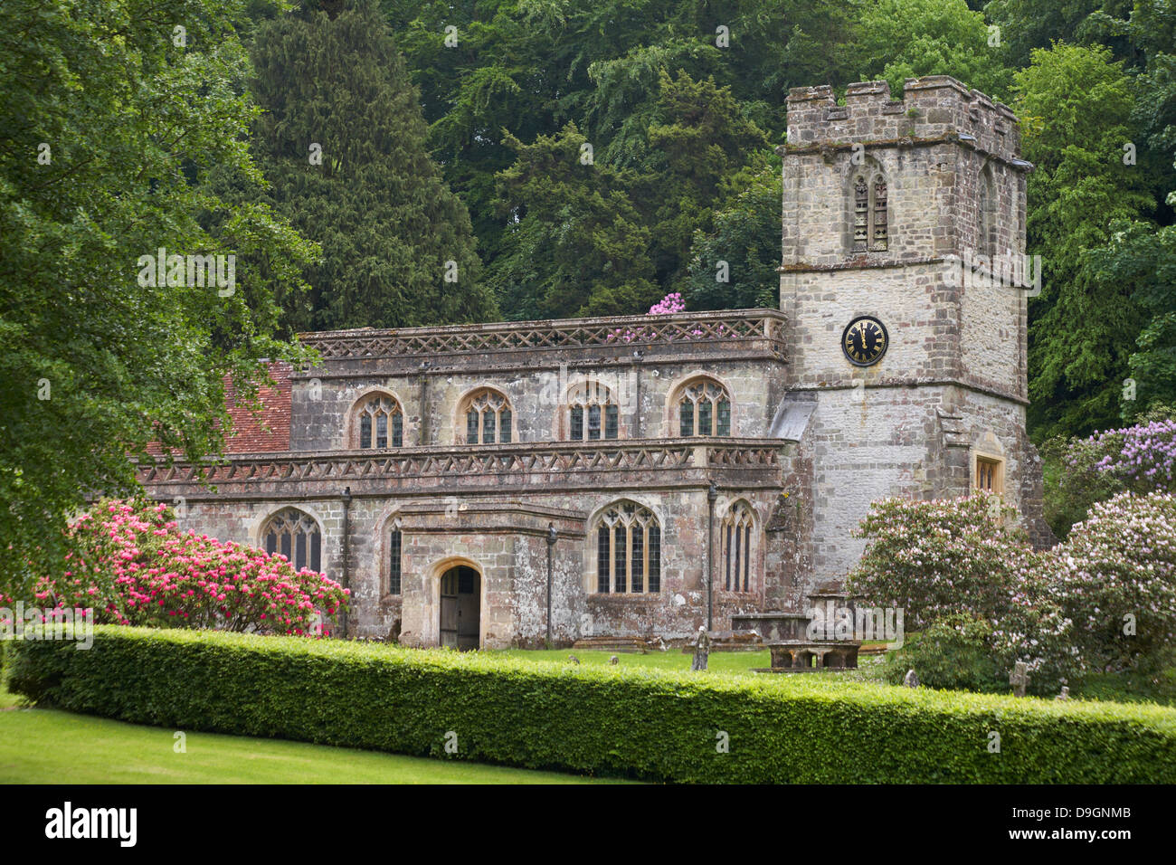 Church Of St Peters At Stourton, Wiltshire In June Stock ...