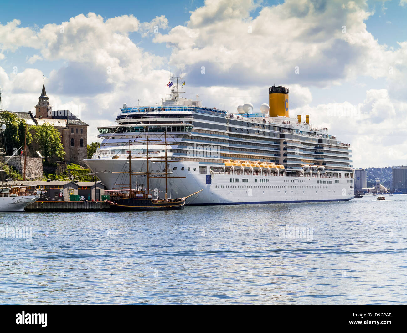 Cruise Ship The Costa Luminosa In Oslo Harbour Norway Europe - Cruise ship norway