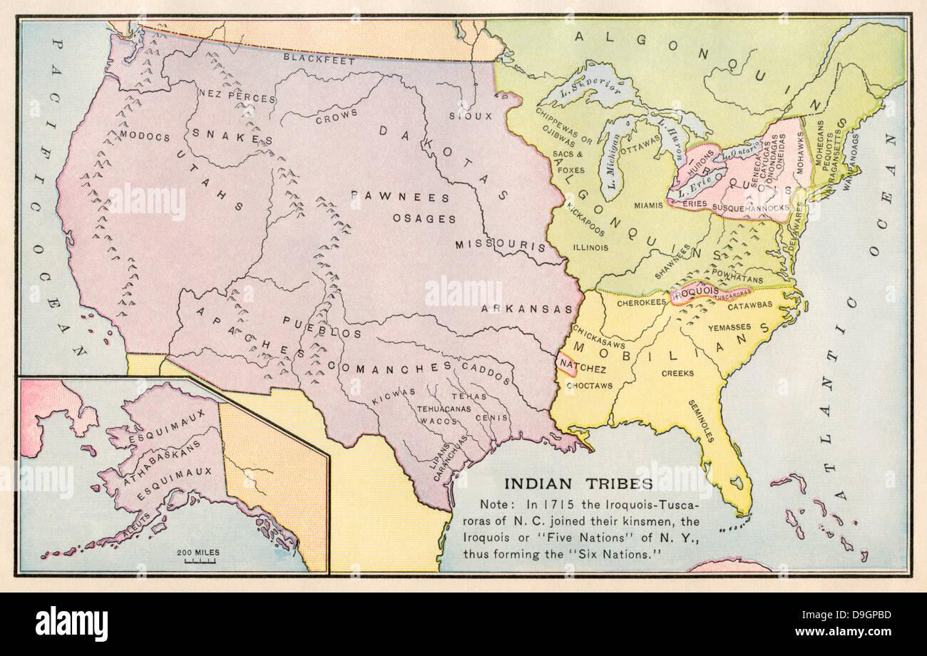 Native American Tribes Alaska Map Native American