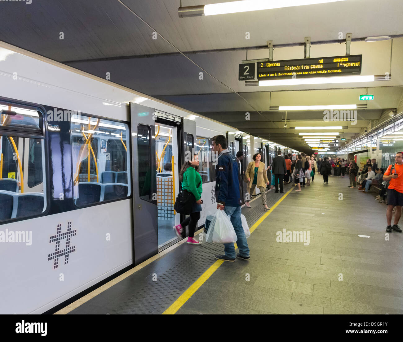 Underground railway subway station in Oslo, Norway, Europe Stock ...