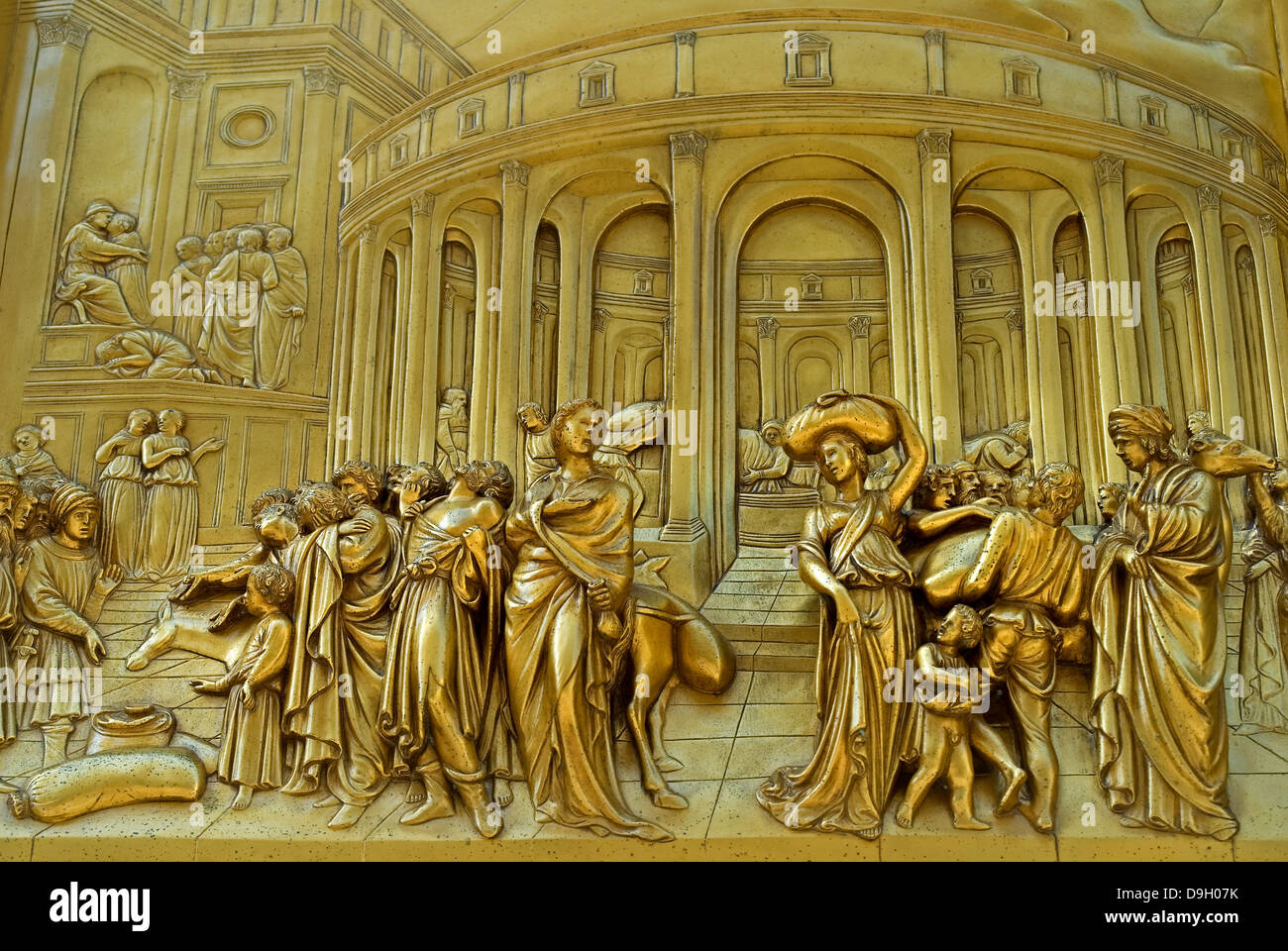 Florence Tuscany Italy. Eastern Doors of the Baptistry (Lorenzo Ghiberti - 1452) The story of Cain and Abel & Florence Tuscany Italy. Eastern Doors of the Baptistry (Lorenzo ... Pezcame.Com