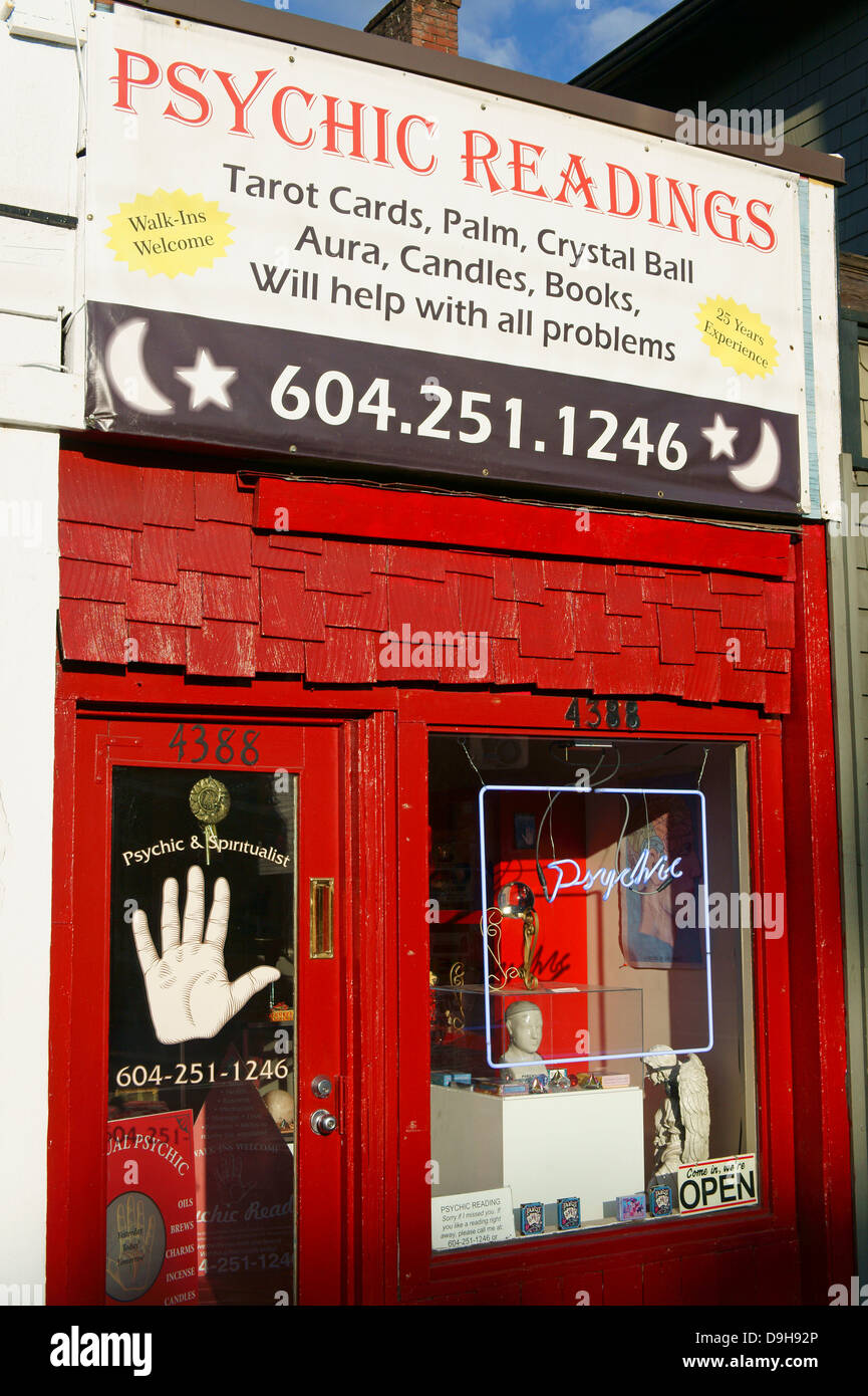 Psychic Readings And Occult Shop On Main Street In