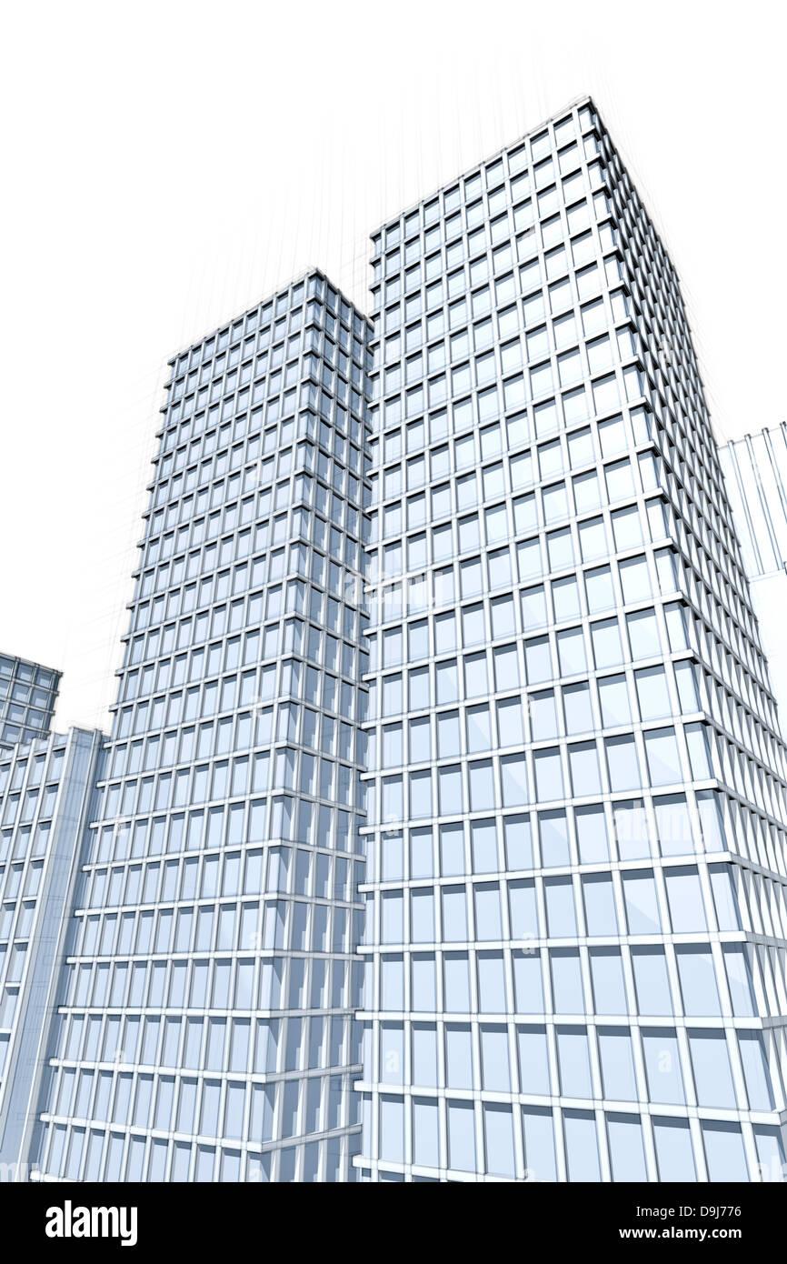 architecture blueprints skyscraper. Architecture Blueprint Of Two Large Skyscrapers Blueprints Skyscraper
