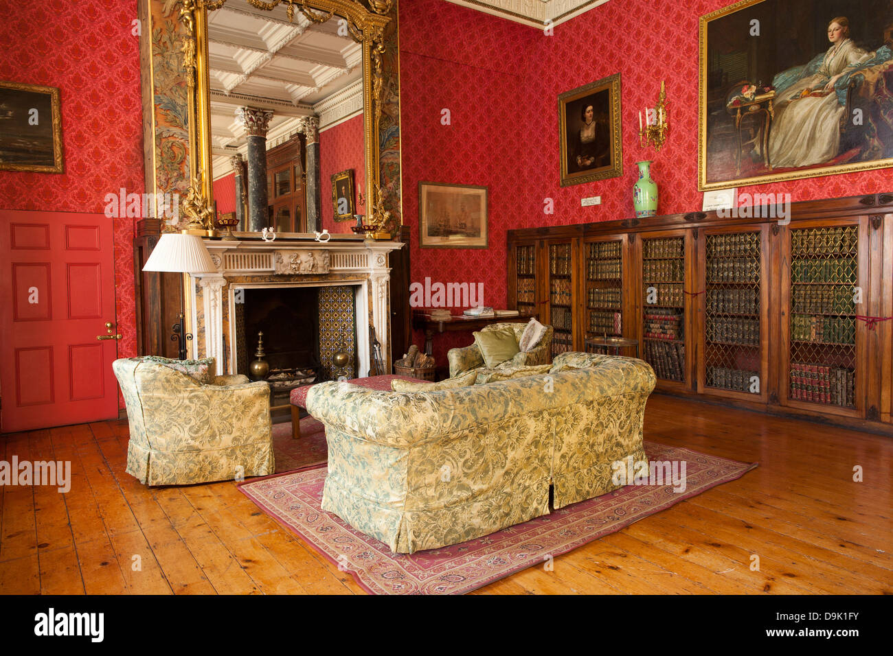 elegant and richly decorated interior rooms inside bantry house