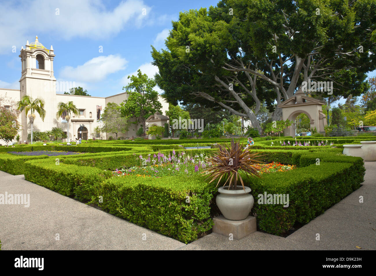 Balboa Park Gardens And Building In San Diego California