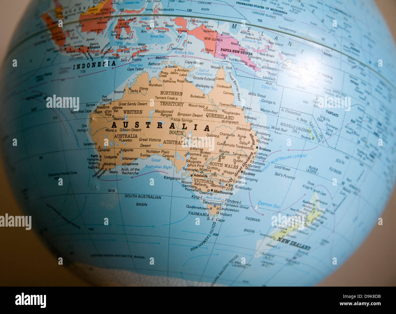 Australia Continent And Country On The World Map Photo – Location of Australia on World Map