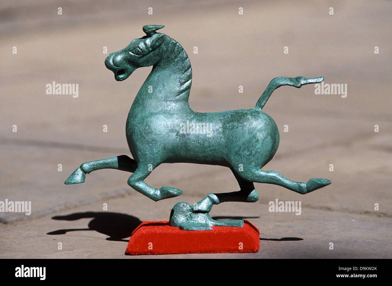 a miniature model sold as souvenir depicting the gansu flying