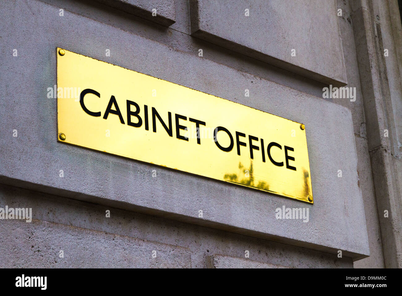Brass Plaque / Name Plate Outside The Cabinet Office, Whitehall, London
