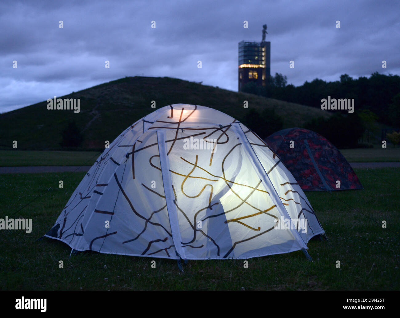Tents designed by Chinese artist Ai Weiwei are set up during the u0027Emscherkunst 2013u0027 & Tents designed by Chinese artist Ai Weiwei are set up during the ...