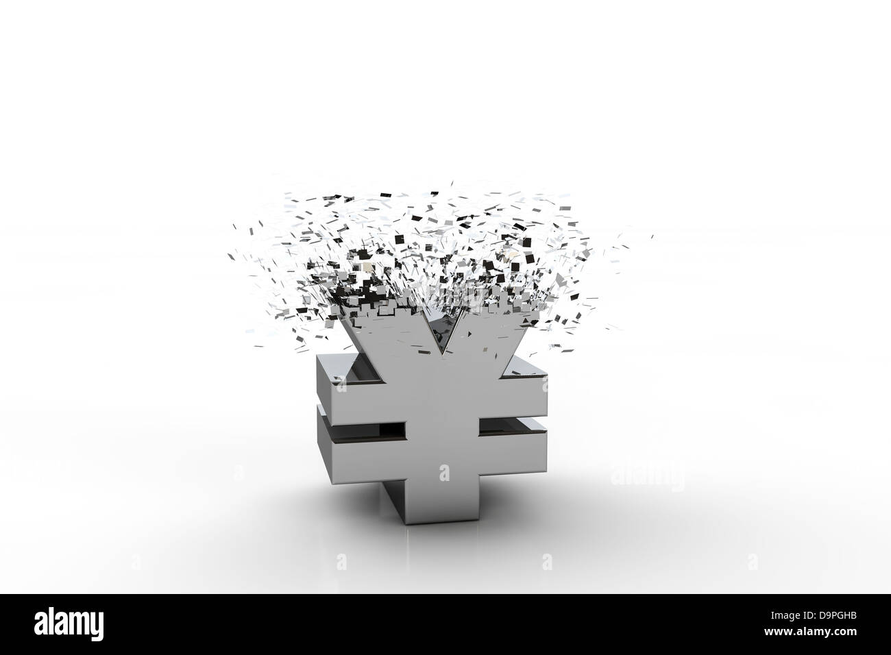 3d yen currency symbol exploding over white background stock 3d yen currency symbol exploding over white background biocorpaavc