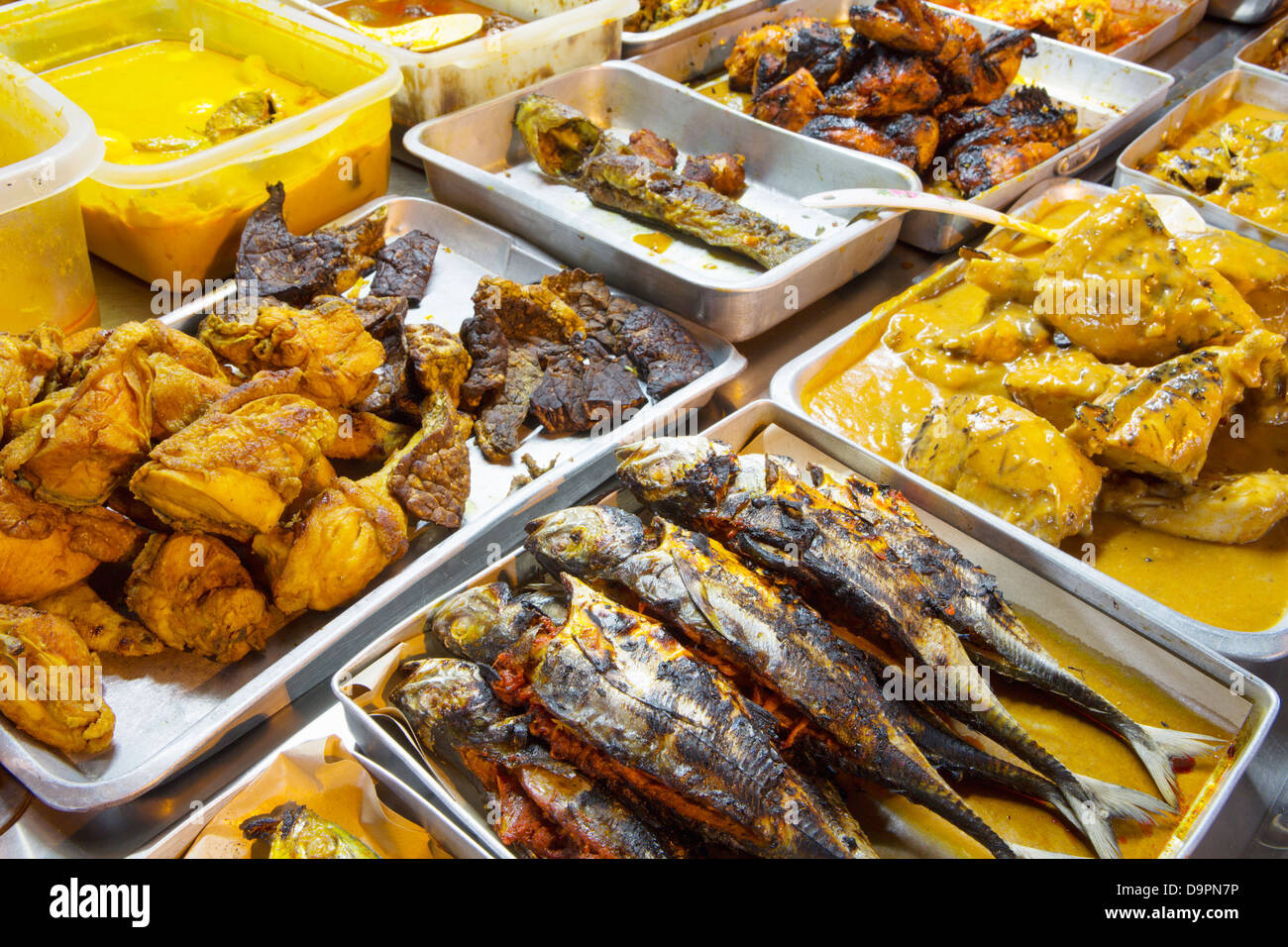 Traditional malaysian food on sale at the night market for Authentic malaysian cuisine