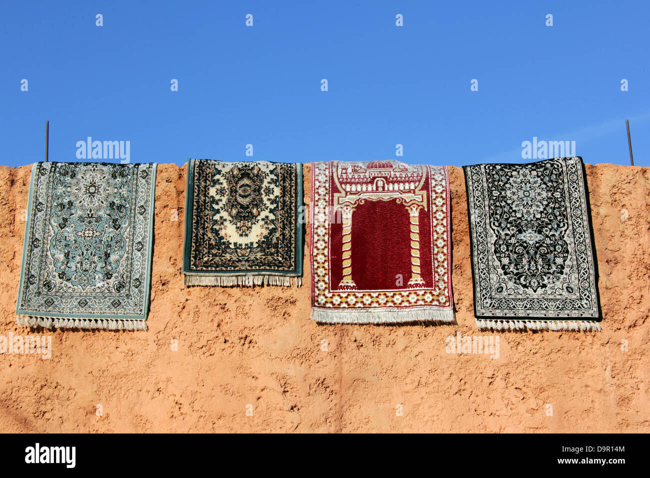 Hanging Rugs Moroccan Rugs Hanging In The Sun Marrakech Medina Morocco North