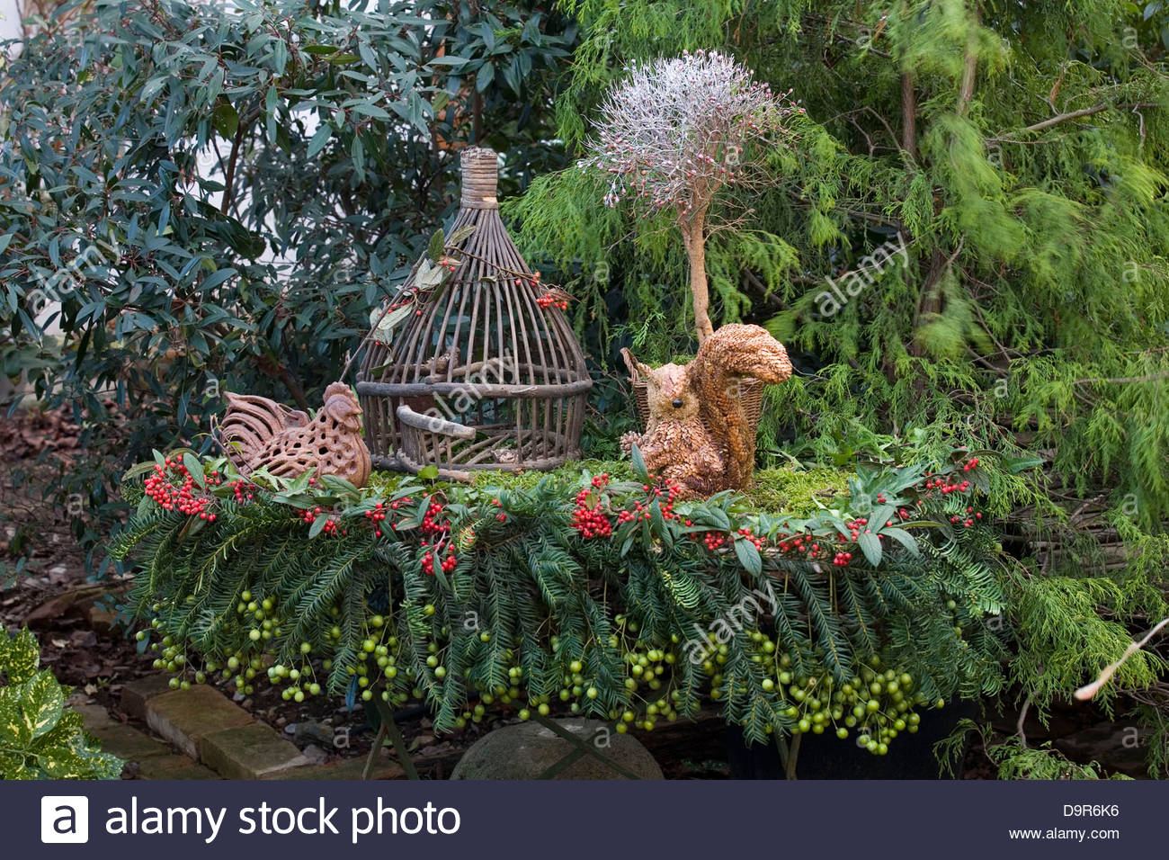 christmas in the garden Stock Photo, Royalty Free Image: 57673146 ...