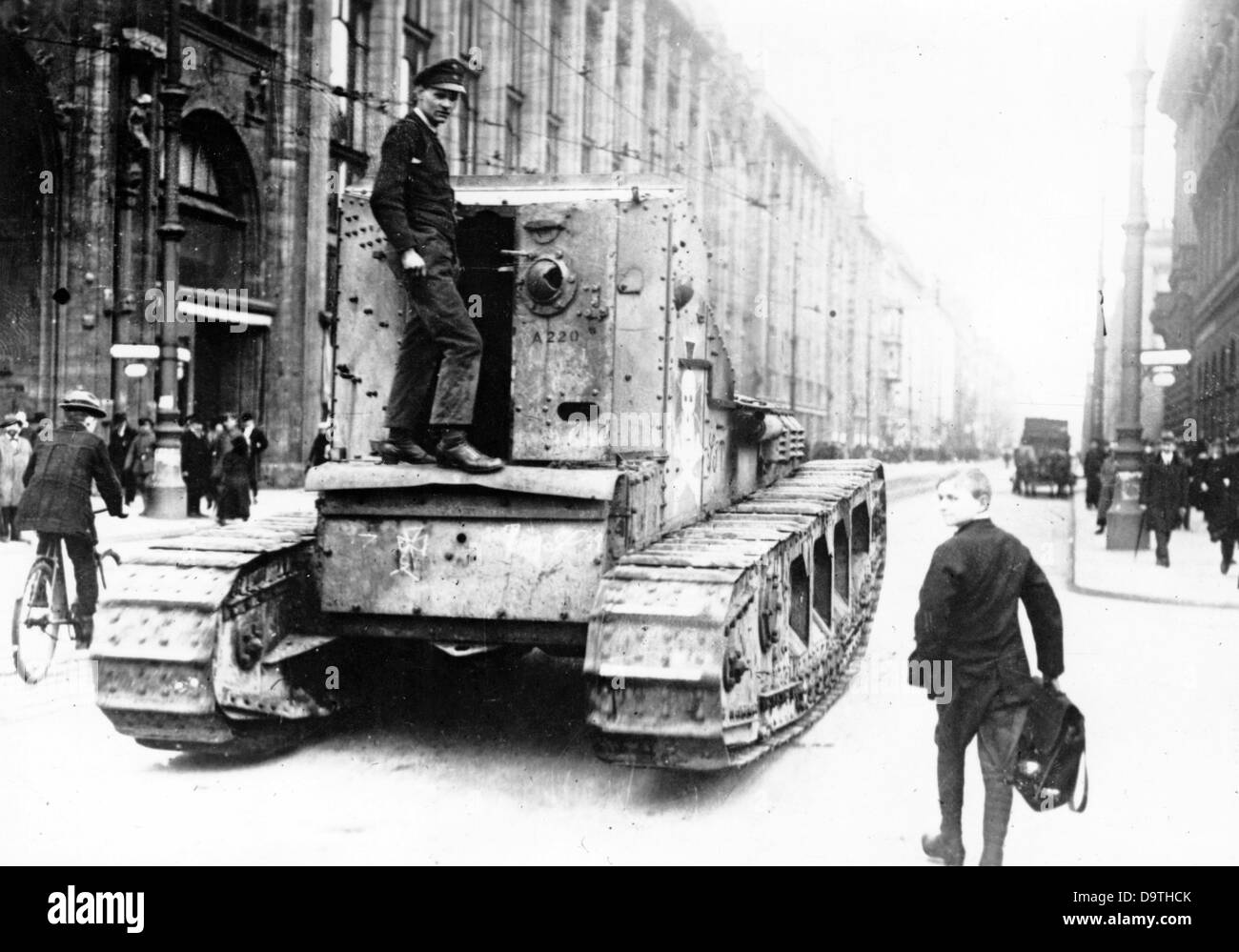 german revolution 1918 1919 tanks are pictured in leipziger strasse stock photo royalty free. Black Bedroom Furniture Sets. Home Design Ideas