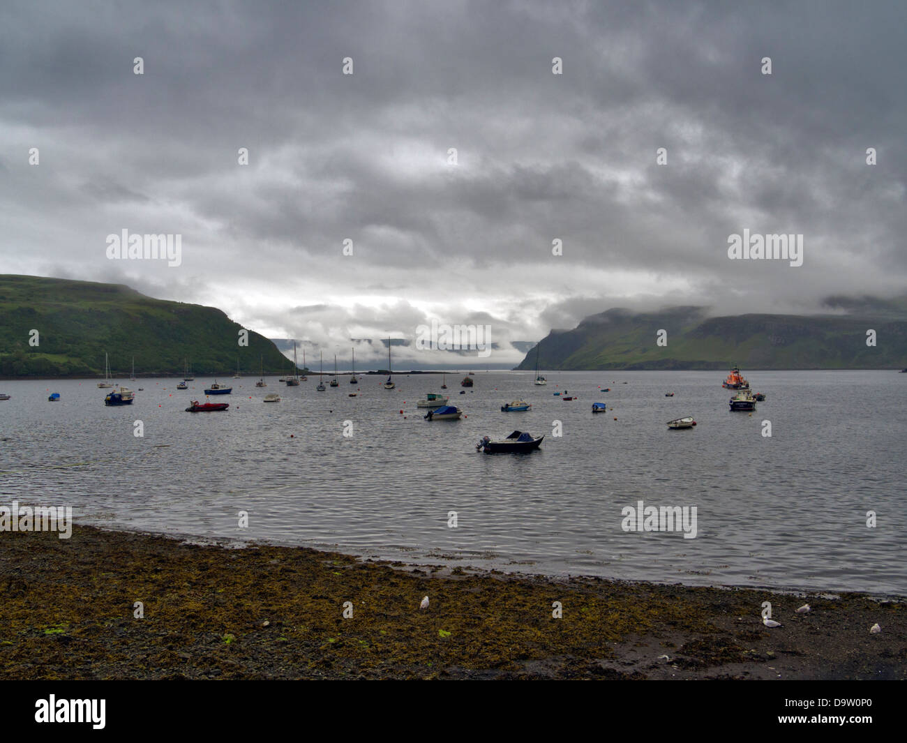 View From Portree Harbour Towards Loch Portree Isle Of