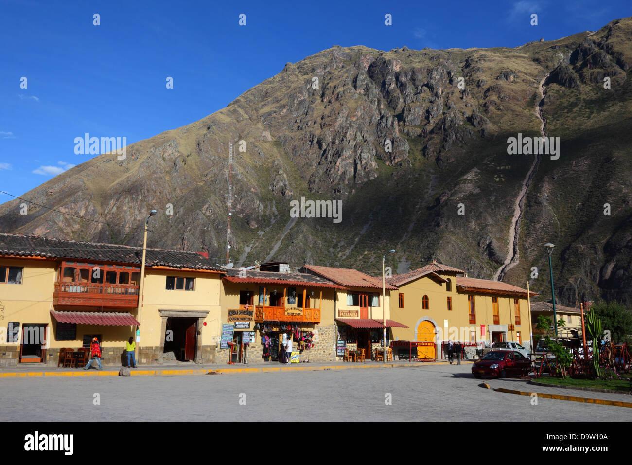 Mountain living near cusco peru royalty free stock photo - Stock Photo View Of Plaza De Armas Ollantaytambo Sacred Valley Near Cusco Peru