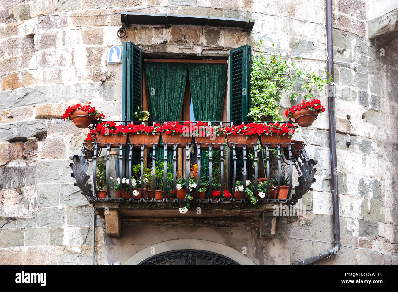 Balcony in medieval lucca tuscany italy stock photo for Balcony in italian