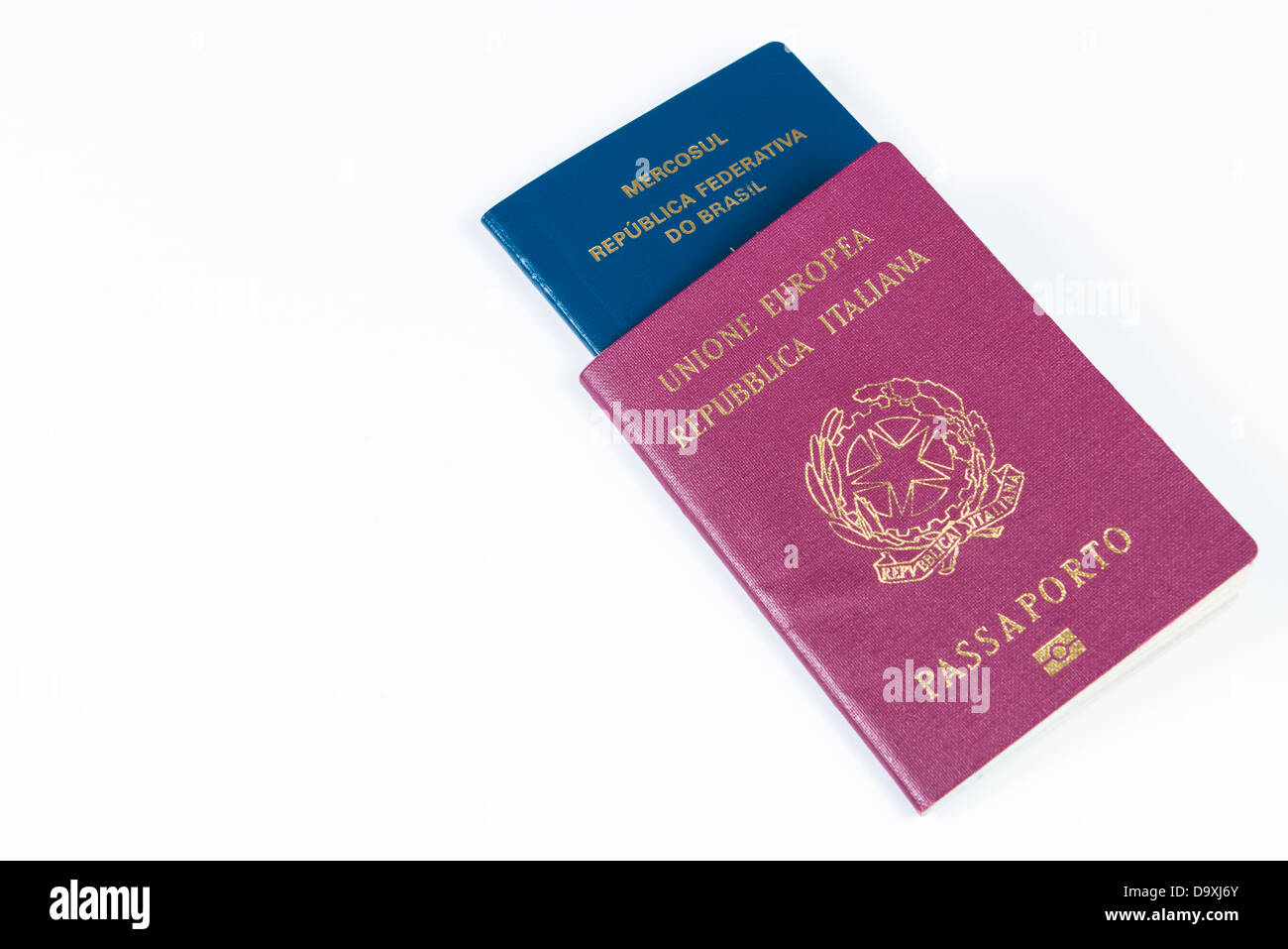 Dual citizenship stock photos dual citizenship stock images alamy italian passport in perspective with brazilian passport inside isolated on white background stock image falaconquin