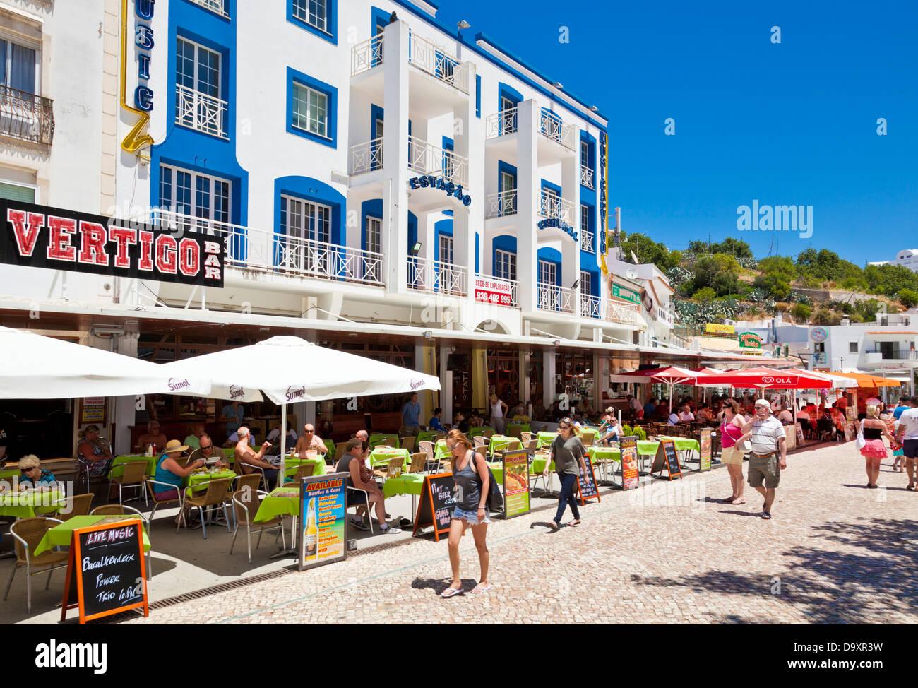 Restaurants And Bars Largo Engenheiro Duarte Pacheco Albufeira Central  Square Algarve Portugal EU Europe